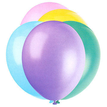 "Pastel Assorted 12"" Balloons Pk 50"