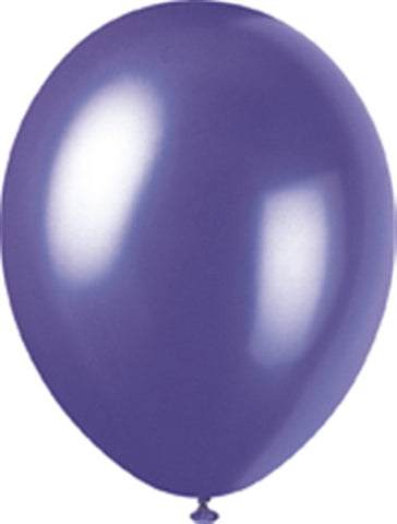 "Electric Purple 12"" Pk 8 Pearlised"