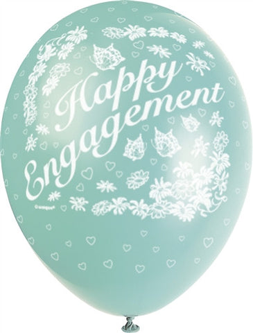 "Happy Engagement 12"" Assorted Pearlised"