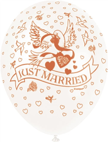 "Just Married 12"" Ivory Pearlised"