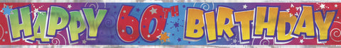 Happy 60th Birthday Banner