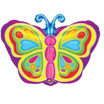 Bright Butterfly - Foil Balloon
