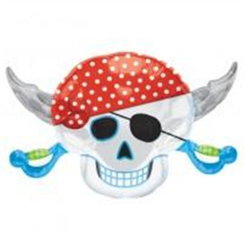 Pirates Party Skull - Foil Balloon