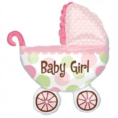 Foil Balloon - Baby Buggy (Girl)