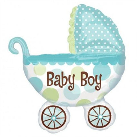 Foil Balloon - Baby Buggy (Boy)