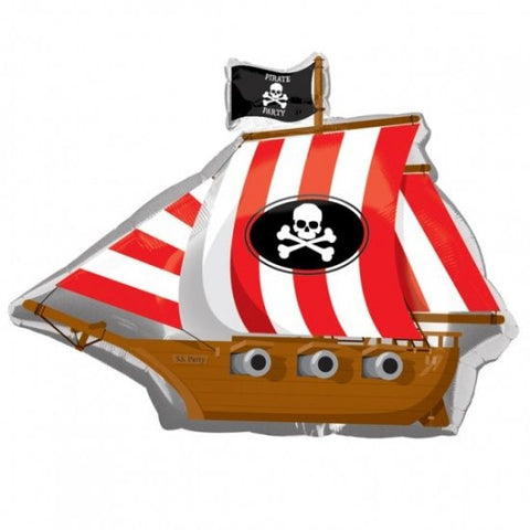 Pirate Party Ship - Foil Balloon
