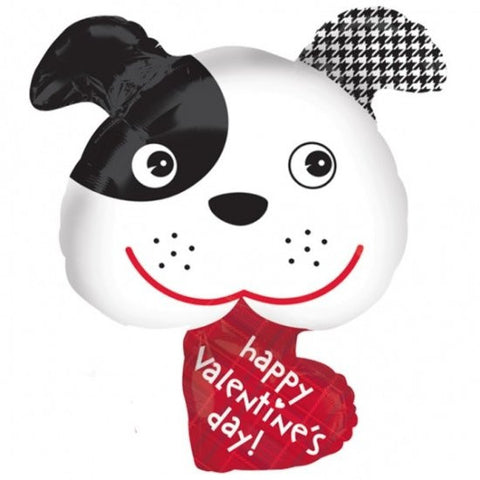 Valentine's Day Puppy - Foil Balloon