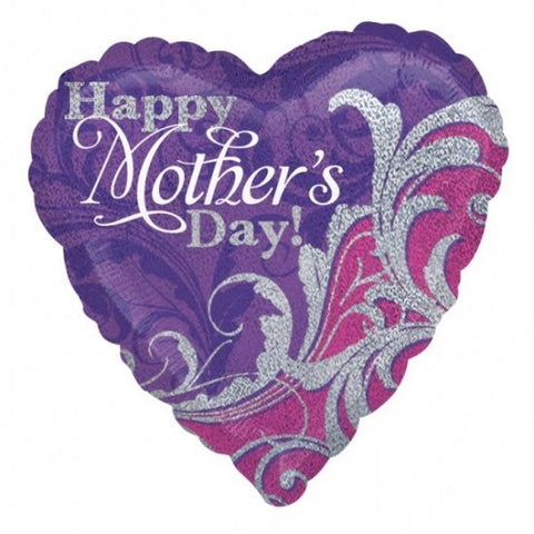 Happy Mother's Day (Damask Sparkles) - Foil Balloon