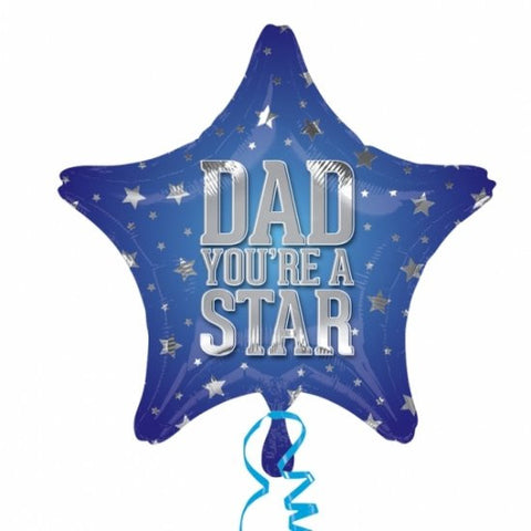 Foil Balloon - Dad You're A Star