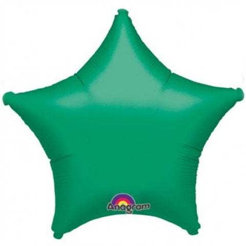 "Foil Balloon - 19"" Star Green"