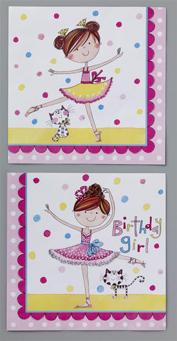 20 Ballerina Lunch Napkins