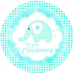 On Your Christening (Blue) - Foil Balloon