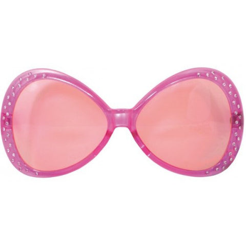 Party Glasses - Pink with 'Diamonds'