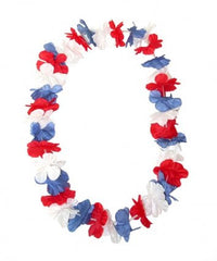 Red,  White & Blue Island Lei