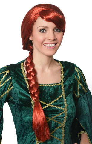 Red Braided Wig