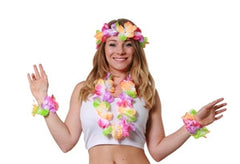 4 Piece Hawaiian Flower Lei