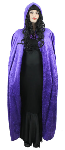 Purple Hooded Velour  Cape