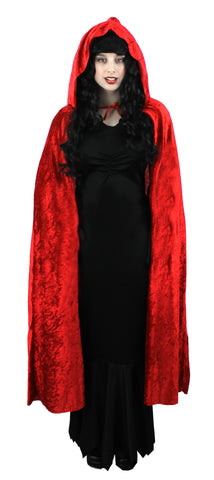Red Hooded Velour  Cape