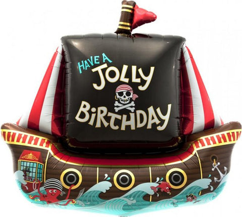 Jolly Pirate Ship - Foil Balloon