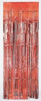 Foil Door Curtain - Red