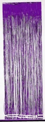 Foil Door Curtain - Purple