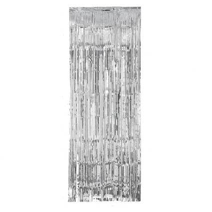 Foil Door Curtain - Silver