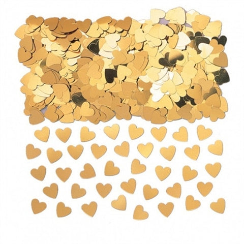 Gold Sparkle Hearts Table Confetti