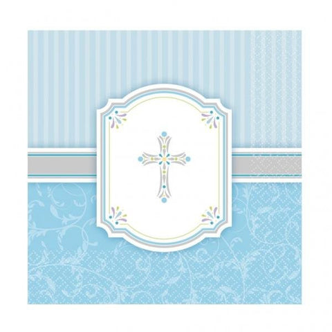 Communion Blessings - Blue Napkins
