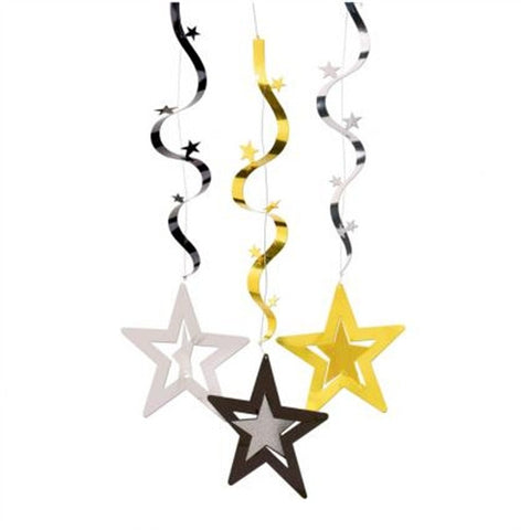 Swirl Decorations - Hollywood (Stars)