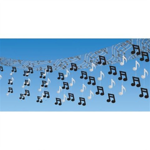 Foil Ceiling Decoration - Rock n Roll (Musical Notes)