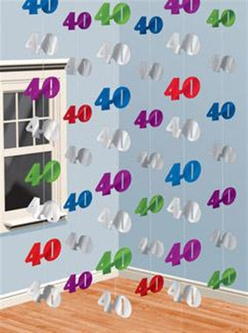 "Foil String Decoration ""40"""