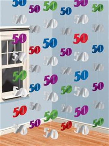 "Foil String Decoration ""50"""