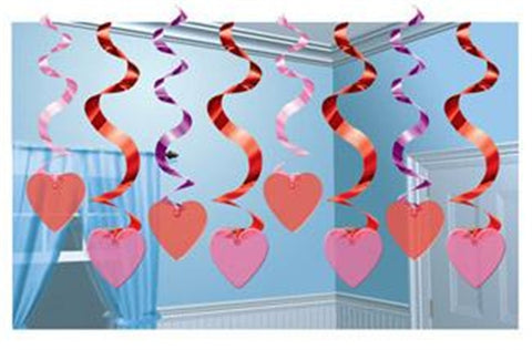 Candy Hearts - Swirl Decorations
