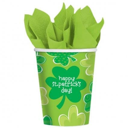 Playful Shamrock - Paper Cups