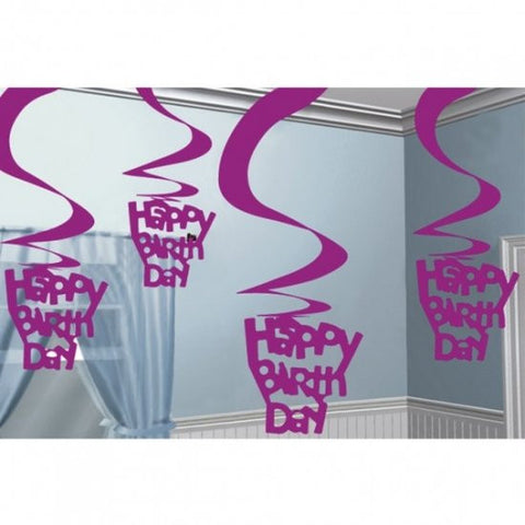 Swirl Decoration - Happy Birthday
