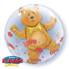 Double Bubble - Love Hearts and Bear