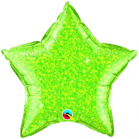 Foil Balloon - Lime Green Crystalgraphic Star