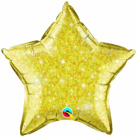 Foil Balloon - Gold Crystalgraphic Star