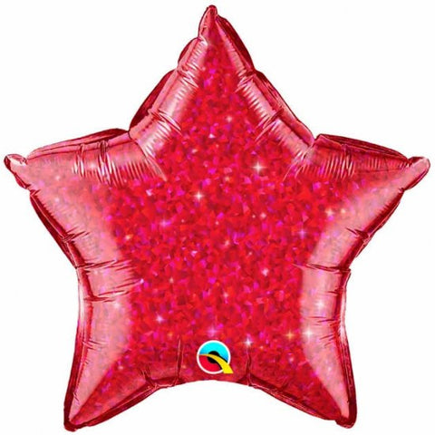 Foil Balloon - Red Crystalgraphic Star