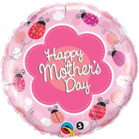 Happy Mother's Day (Ladybugs) - Foil Balloon