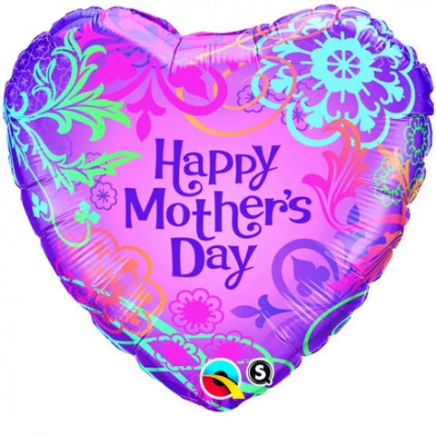 Happy Mother's Day (Filigree Heart) - Foil Balloon