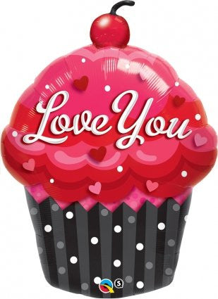 Cupcake 'Love You' - Foil Balloon