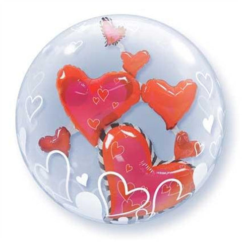 Double Bubble - Lovely Floating Hearts