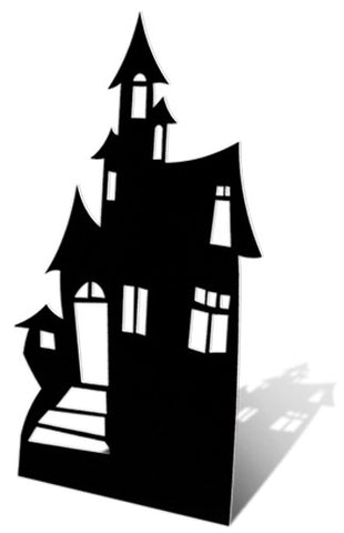Cardboard Cutout - Haunted House (Silhouette)