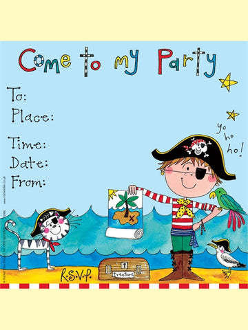 8 Pirate Party Invitations