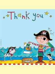 8 Pirate Thank You Cards