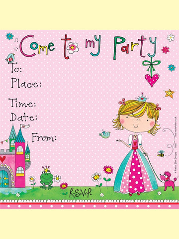 8 Princess Party Invitations