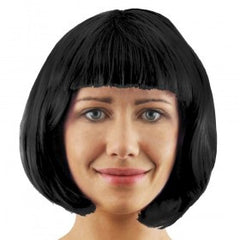 Black Bob Wig with Fringe