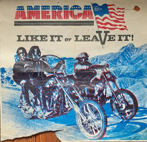 The original screen printed poster, Live like an American Printed by us, Square One, Ganton Street 1969