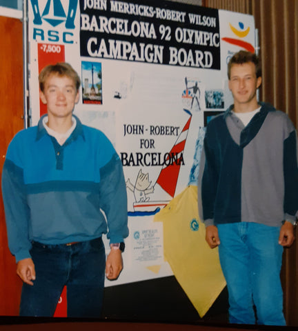1991 Olympic trials support to John and Rob Wilson for Barcelona 1992
